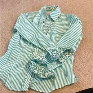 Lily Pulitzer striped button down shirt